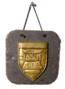 Fermanagh County Crest slate wall plaque